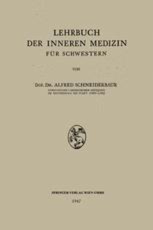 Lehrbuch der Inneren Medizin für Schwestern