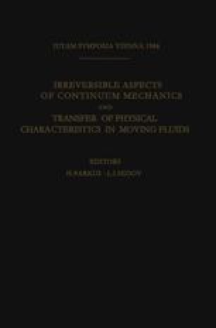 Irreversible Aspects of Continuum Mechanics and Transfer of Physical Characteristics in Moving Fluids
