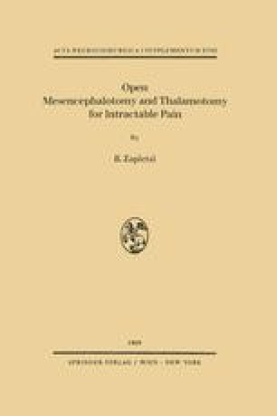 Open Mesencephalotomy and Thalamotomy for Intractable Pain