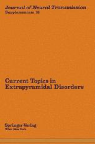 Current Topics in Extrapyramidal Disorders