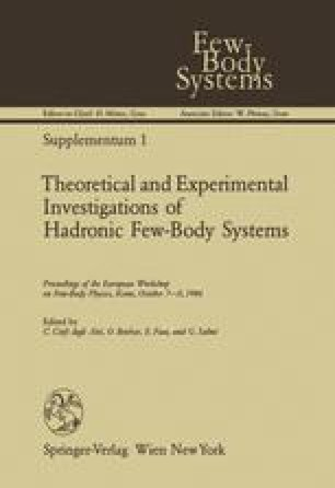 Theoretical and Experimental Investigations of Hadronic Few-Body Systems