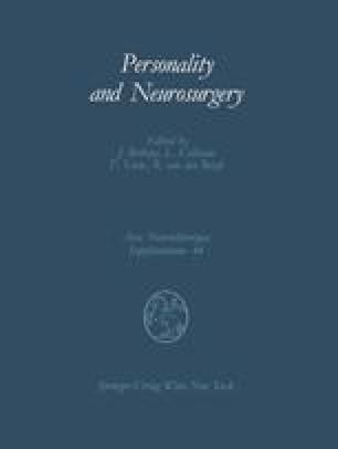 Personality and Neurosurgery