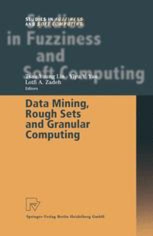 Data Mining, Rough Sets and Granular Computing