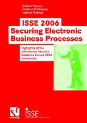 ISSE 2006 — Securing Electronic Busines Processes