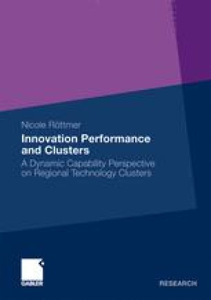 Innovation Performance and Clusters
