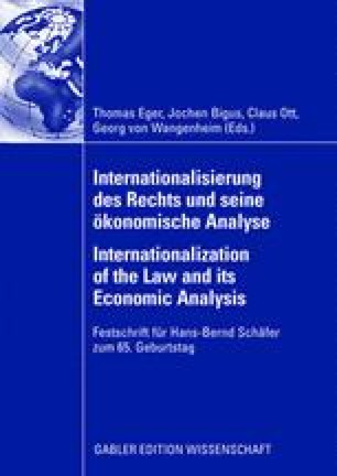 Law And Economics In The 21st Century Springerlink