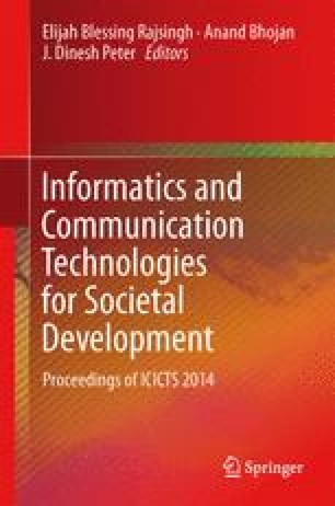 Informatics and Communication Technologies for Societal Development