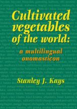 Common names of the cultivated vegetable crops of the world, listed