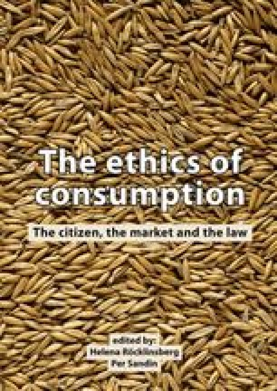 The ethics of consumption