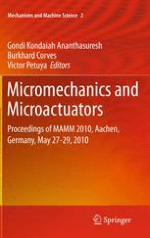 Micromechanics and Microactuators