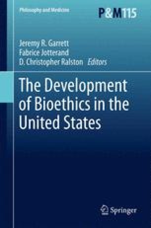 The Development of Bioethics in the United States