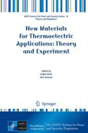 New Materials for Thermoelectric Applications: Theory and Experiment