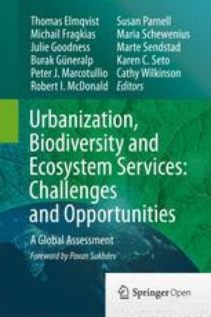 Urbanization and Global Trends in Biodiversity and Ecosystem