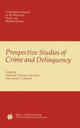 Prospective Studies of Crime and Delinquency