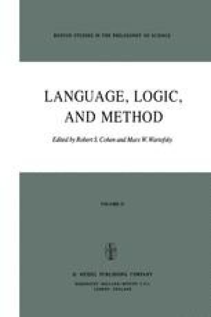 Language, Logic and Method
