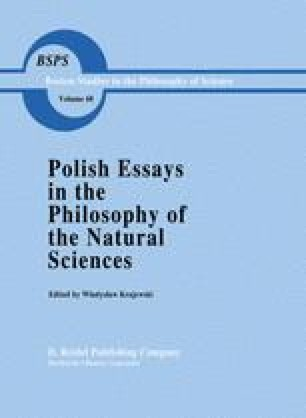 Polish Essays in the Philosophy of the Natural Sciences