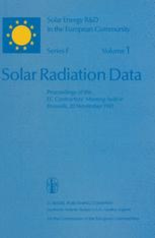 Solar Radiation Data