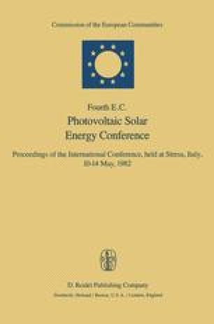 Fourth E.C. Photovoltaic Solar Energy Conference