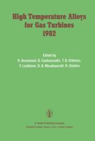 High Temperature Alloys for Gas Turbines 1982