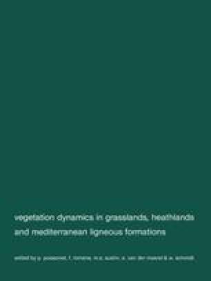Vegetation dynamics in grasslans, healthlands and mediterranean ligneous formations