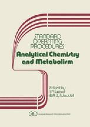 Standard Operating Procedures Analytical Chemistry and Metabolism