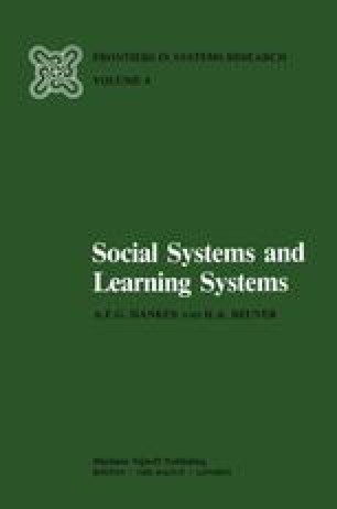 Social Systems and Learning Systems