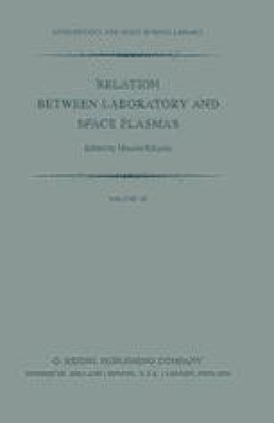 Relation Between Laboratory and Space Plasmas