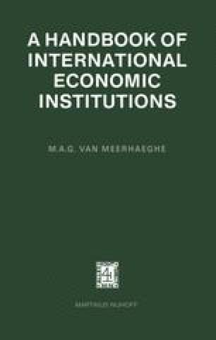 A Handbook of International Economic Institutions