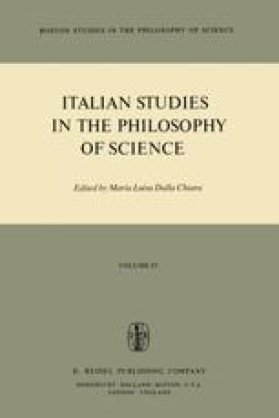 Italian Studies in the Philosophy of Science