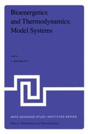Bioenergetics and Thermodynamics: Model Systems