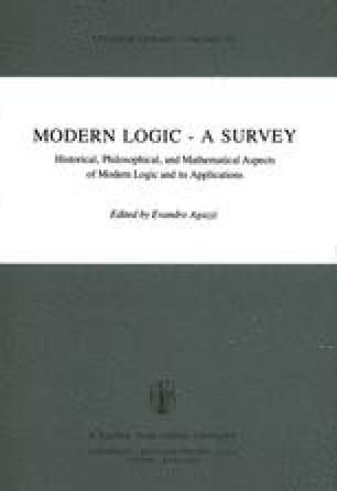 Modern Logic — A Survey