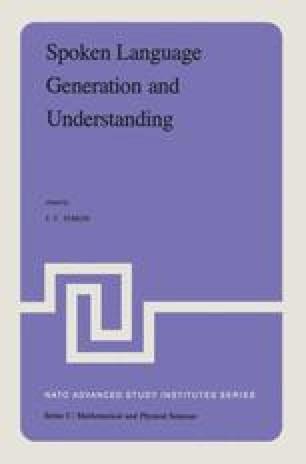 Spoken Language Generation and Understanding