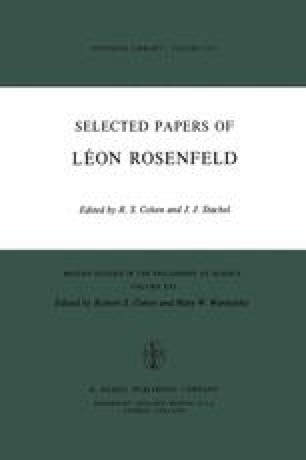 Selected Papers of Léon Rosenfeld