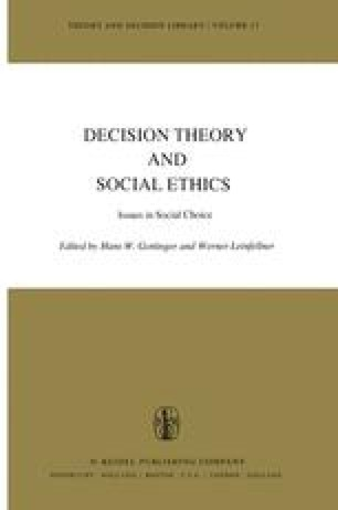 Decision Theory and Social Ethics