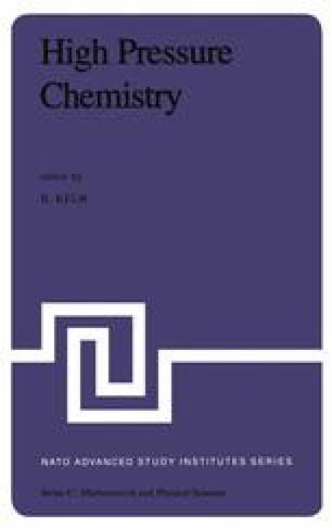 High Pressure Chemistry