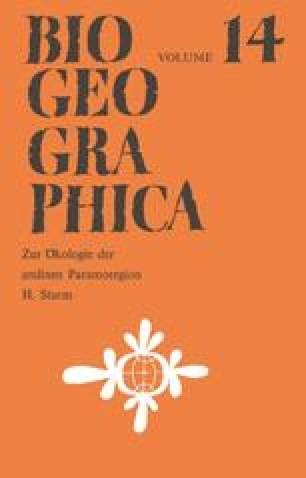 Zur Ökologie der andinen Paramoregion
