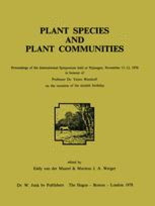 Plant Species and Plant Communities