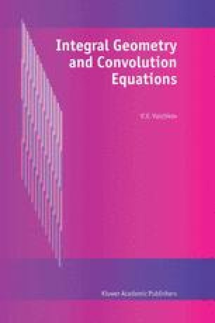 Integral Geometry and Convolution Equations