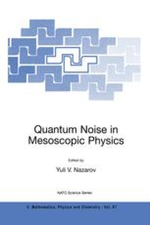 Quantum Noise in Mesoscopic Physics
