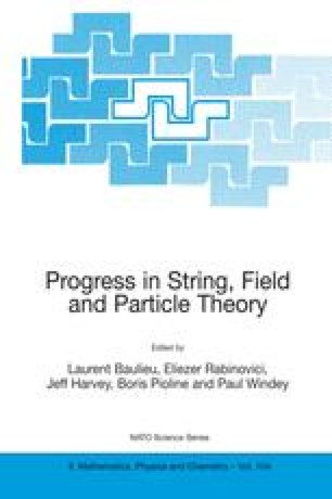 Progress in String, Field and Particle Theory