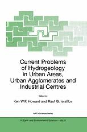Current Problems of Hydrogeology in Urban Areas, Urban Agglomerates and Industrial Centres