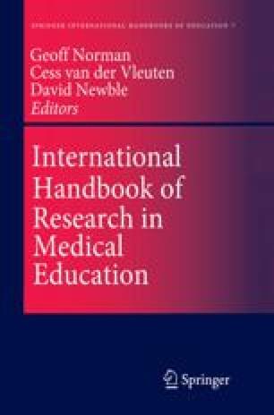 International Handbook of Research in Medical Education