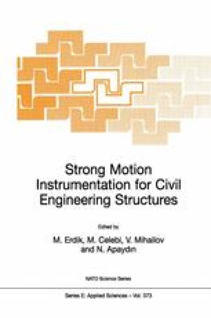 Strong Motion Instrumentation for Civil Engineering Structures