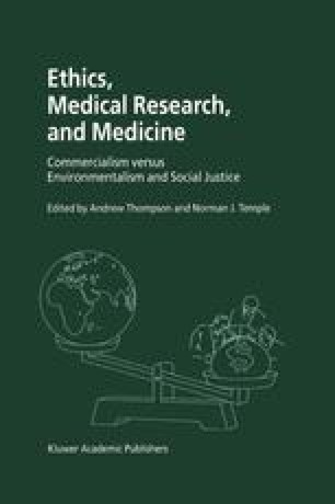 Ethics, Medical Research, and Medicine