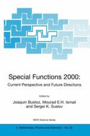 Special Functions 2000: Current Perspective and Future Directions