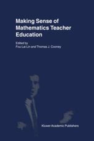 Making Sense of Mathematics Teacher Education