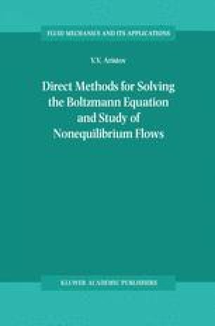Direct Methods for Solving the Boltzmann Equation and Study of Nonequilibrium Flows
