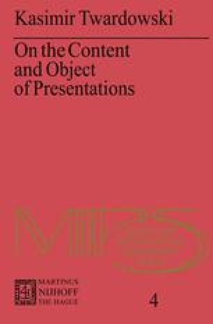 On the Content and Object of Presentations