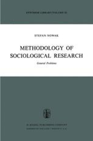 Methodology of Sociological Research