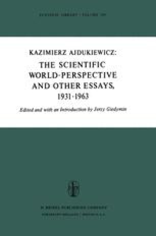 The Scientific World-Perspective and Other Essays, 1931–1963